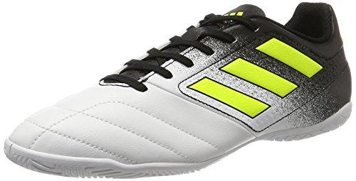 adidas Herren Ace 17.4 in Fußballschuhe, Weiß (Footwear White/Solar Yellow/Core Black), 43 1/3 EU