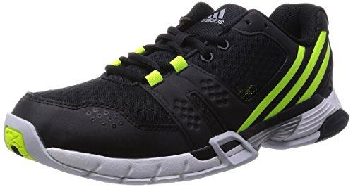 adidas Performance Volley Team 3, Herren Volleyballschuhe, Schwarz (Core Black/Solar Yellow/Clear Grey S12), 40 2/3 EU (7 Herren UK)