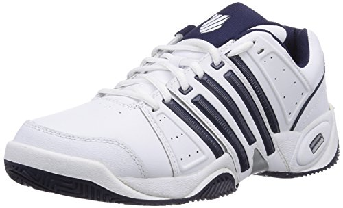 K-Swiss Performance KS TFW ACCOMPLISH LTR-WHITE/NAVY/SILVER-M, Herren Tennisschuhe, Weiß (White/Navy/Silver), 42.5 EU (8.5 Herren UK)