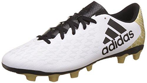 adidas Herren X 16.4 Fxg Fußballschuhe, Weiß (Ftwr White/Core Black/Gold Met.), 44 EU