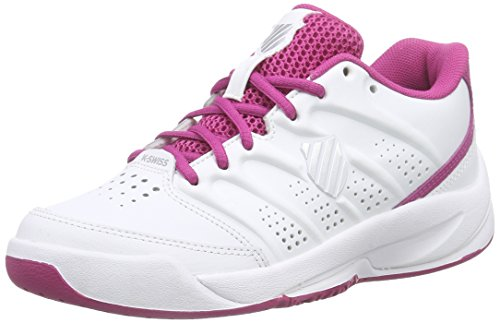 K-Swiss Performance ULTRASCENDOR OMNI JR, Mädchen Tennisschuhe, Weiß (WHITE/VERYBERRY/SILVER), 37 EU (4 Kinder UK)