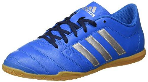 adidas Herren Gloro 16.2 indoor Fußballschuhe, Blau (Shock Blue/Silver Metallic/Collegiate Navy), 43.1/3 EU