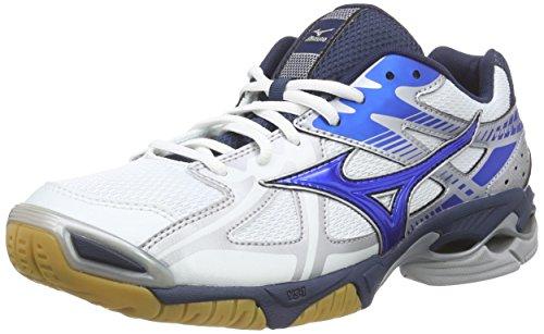 Mizuno Wave Bolt 4 Herren Hallenschuhe, Mehrfarbig (White/DirectBlue/Silver 24), 46