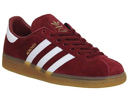 adidas München Schuhe 7,5 burgundy/white/gum