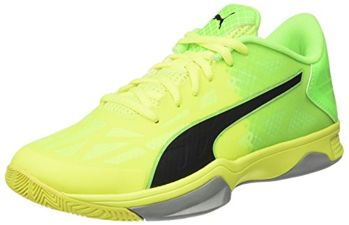 Puma Unisex-Erwachsene Evospeed Indoor 3.5 Handballschuhe, Gelb (Safety Yellow-Puma Black-Green Gecko-Quarry 03), 39 EU