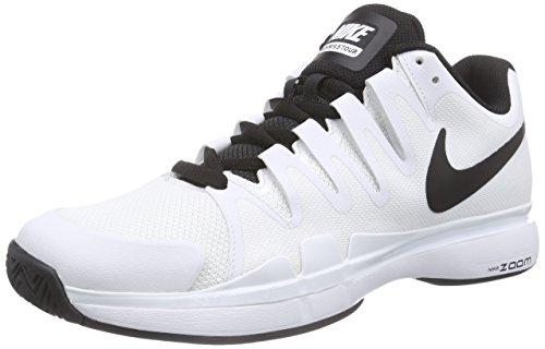 Nike Court Zoom Vapor 9.5 Tour, Herren Tennisschuhe, Weiß (White/Black-Black 101), 45 EU