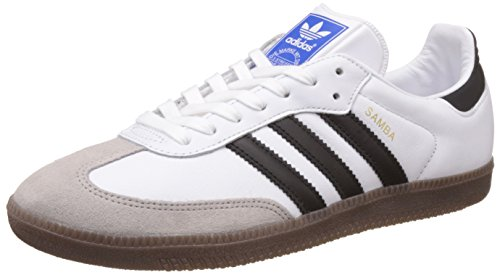 adidas Herren Samba OG Sneakers, Weiß (Ftwr White/Core Black/Gum), 44 EU