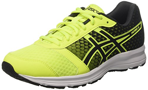 Asics Herren T619N0790 Laufschuhe, Mehrfarbig (Safety Yellow / Black / White), 44.5 EU (9.5 UK)