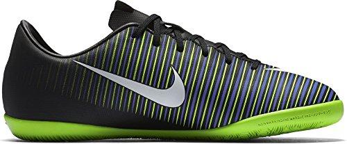 Nike Unisex-Erwachsene 831947-013 Hallenfußballschuhe, Black (Schwarz / Weiß-Elektro – Grün), 38.5 EU