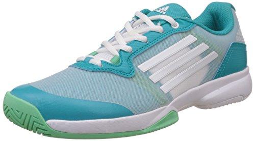 adidas Damen Sonic Court W Tennisschuhe, Verde / Blanco (Verimp / Ftwbla / Briver), 40 2/3 EU