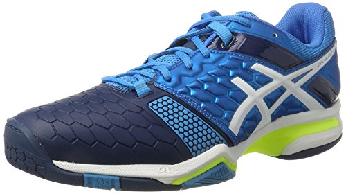 Asics Herren Gel-Blast 7 Handballschuhe, Blau (Blue Jewel/White/Safety Yellow), 45 EU