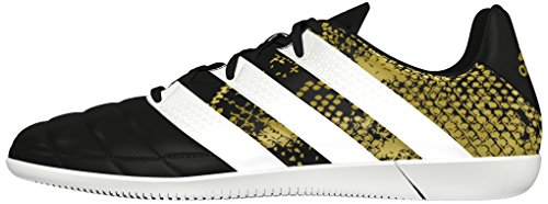 adidas Herren Ace 16.3 in Leather Fußballschuhe, Schwarz (Core Black/Ftwr White/Gold Metallic), 42 EU