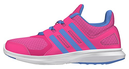 Adidas Unisex-Kinder Hyperfast 2.0 K Laufschuhe, Pink (Pink/Blau/Weiß), 36 2/3 EU