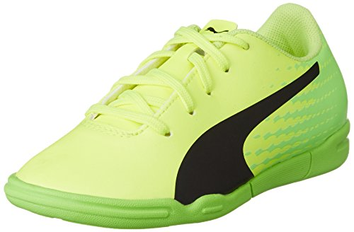 Puma Unisex-Kinder Evospeed 17.5 IT Jr Fußballschuhe, Gelb (Safety Yellow Black-Green Gecko 01), 31 EU