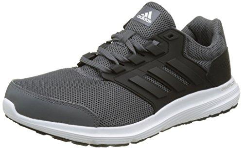 adidas Herren Galaxy 4 Laufschuhe, Grau (Grey Five F17/Core Black/Ftwr White), 46 EU