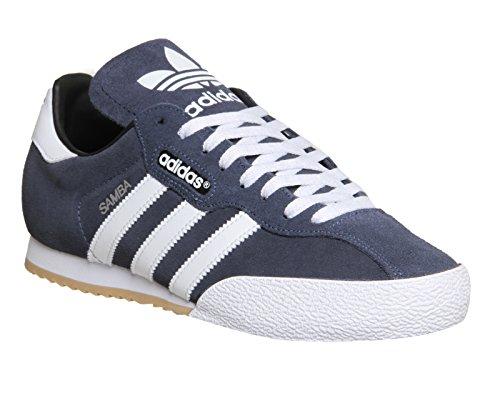 adidas Herren Samba Super Suede Sneaker, Blau (Navy/Running White Footwear), 42 EU