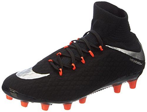 Nike Herren Hypervenom Phatal III Agpro Fußballschuhe, Schwarz (Black/Metallic Silver-Black-Anthracite), 42 EU