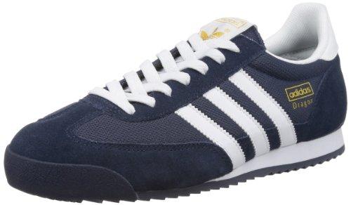 adidas Originals Herren Dragon Sneakers, Blau (NEW NAVY / WHITE / METALLIC GOLD), 44 EU (9.5 UK)