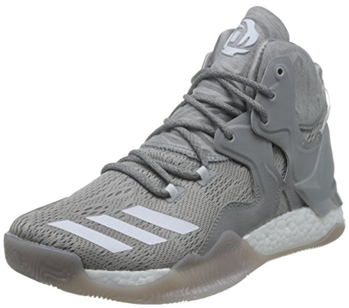 adidas Herren D Rose 7 Basketballschuhe, Multicolore (Mgreyh/Ftwwht/Mgsogr), 44 EU