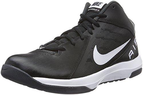 Nike Herren the Air Overplay IX Basketballschuhe, Schwarz (Black/White-Anthracite-Dark Grey), 42.5 EU