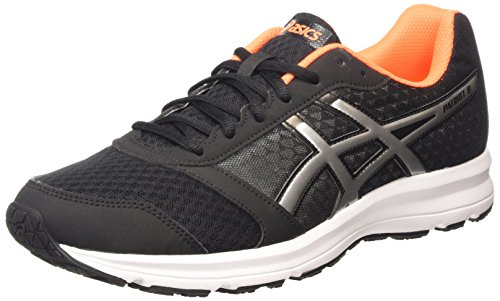 ASICS Patriot 8, Herren Laufschuhe, Schwarz (black/silver/hot Orange 9093), 42.5 EU