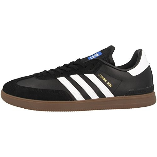 Adidas Schuhe Samba ADV Herren core black-footwear white-gum (BB8685), 42, schwarz