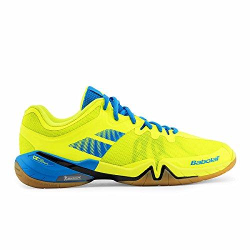 BABOLAT Shadow Tour Herren Sport Hallen Badminton Schuh Topmodell (42, gelb)