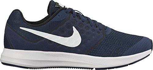 Nike Unisex-Kinder Downshifter 7 Laufschuhe, Blau (Midnight Navy/White-Dark Obsidian-Black), 38.5 EU