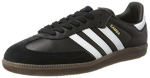 adidas Unisex-Erwachsene Samba Sneakers, Schwarz (Core Black/Footwear White/Gum), 43 1/3 EU