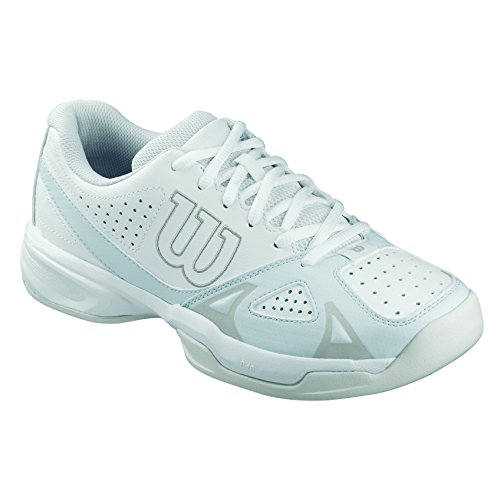 Wilson Rush Open 2.0 W, Damen Tennisschuhe, Mehrfarbig (WHITE/ICE GRAY WILSON/STEEL GREY), 39 EU (5.5 Damen UK)