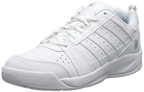 K-Swiss Performance KS TFW VENDY II-WHITE/SILVER-M, Damen Tennisschuhe, Weiß (White/Silver), 40 EU (6.5 Damen UK)