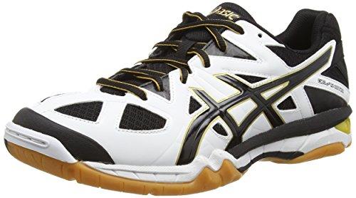 Asics Gel-tactic, Herren Volleyballschuhe, Weiß (white/black/pale Gold 0190), 46 EU