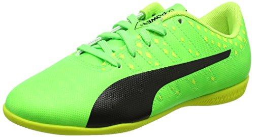 Puma Unisex-Kinder Evopower Vigor 4 IT Jr Fußballschuhe, Grün (Green Gecko Black-Safety Yellow 01), 29 EU