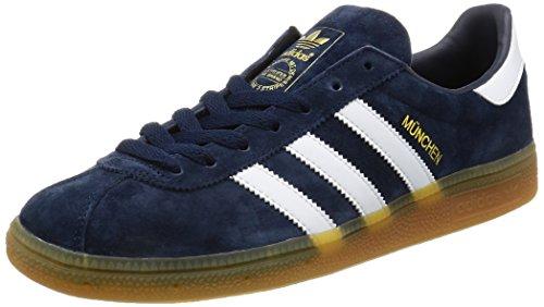 adidas Herren München Laufschuhe, Blau (Collegiate Navy/Ftwr White/Gum), 46 EU