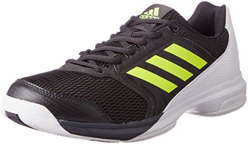 adidas Herren Multido Essence Handballschuhe, Schwarz (Utility Black/Solar Yellow/Ftwr White), 46 EU