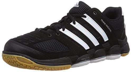 adidas Team Spezial, Unisex-Erwachsene Handballschuhe, Schwarz (Black 1/Running White Ftw/Metallic Silver), 44 EU (9.5 Erwachsene UK)