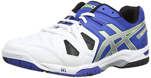 Asics Gel-game 5, Herren Tennisschuhe, Blau (blue/silver/flash Yellow 4293), 42.5 EU