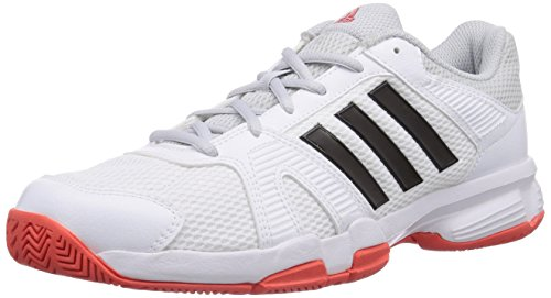 adidas Performance Barracks F10, Herren Hallenschuhe, Weiß (Ftwr White/Core Black/Bright Red), 43 1/3 EU (9 Herren UK)