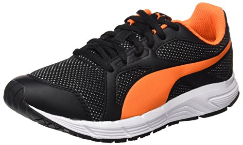 Puma Unisex-Kinder Axis v4 Mesh Jr Low-Top, Schwarz (Black-Orange Clown Fish 07), 39 EU