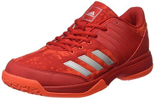 adidas Herren Ligra 5 Volleyballschuhe, Rot (Scarlet/Energy/Silver Metallic), 42 2/3 EU