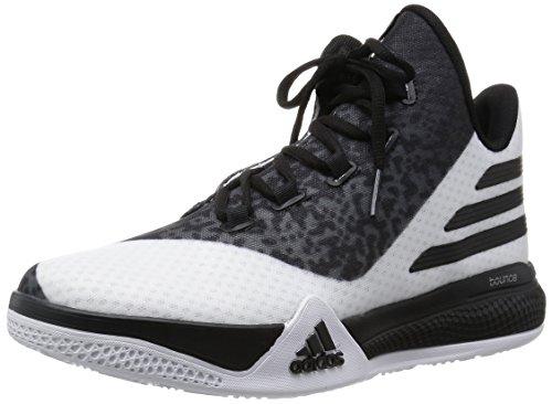 adidas Herren Light EM UP 2 Basketballschuhe, Weiß / Grau / Schwarz (Ftwbla / Negbas / Onix), 45 1/3 EU