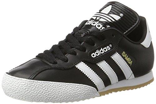 adidas Herren Samba Super Turnschuhe, Schwarz (Black/Running White Ftw), 44 EU