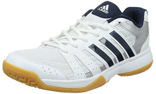 adidas Performance Ligra 3, Herren Volleyballschuhe, Weiß (Ftwr White/Collegiate Navy/Tech Silver Met. F13), 44 2/3 EU (10 Herren UK)