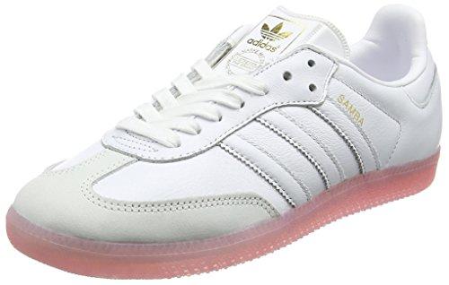 adidas Damen Samba Sneaker, Weiß (Footwear White/Footwear White/Easy Pink), 40 2/3 EU