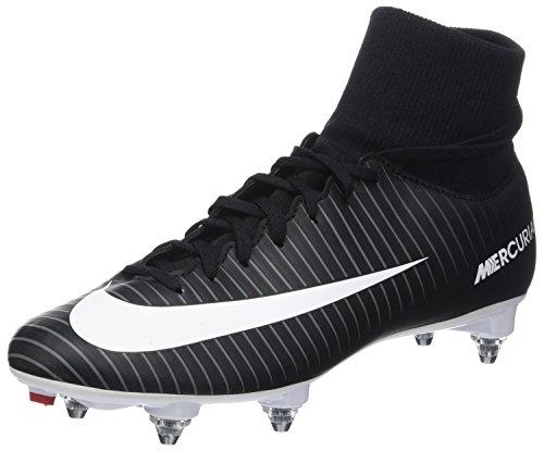 Nike Herren Mercurial Victory Vi Df Sg Fußballschuhe, Schwarz (Black/White/Dk Grey/Univ Red), 41 EU