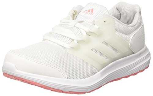 adidas Damen Galaxy 4 Laufschuhe, Weiß (Footwear White/Footwear White/Tactile Rose), 39 1/3 EU