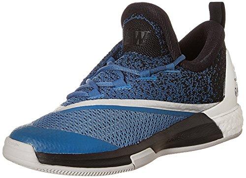 adidas Crazylight Boost 2.5 Low Herren Basketballschuhe, Blau / Schwarz / Weiß (Azucap / Negbas / Ftwbla), 44 EU