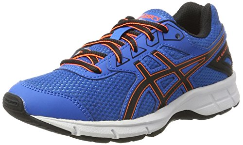 Asics Unisex-Kinder Gel-Galaxy 9 Gs Laufschuhe, Blau (Directoire Blue / Black / Hot Orange), 36 EU