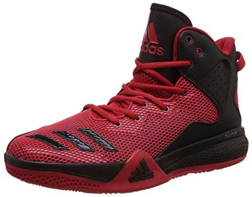 adidas Herren Dt Bball Mid Basketballschuhe, Multicolore (Scarle/Ftwwht/Powred), 47 1/3 EU
