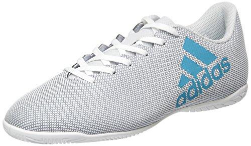 adidas Herren X 17.4 in Fußballschuhe, Weiß (Footwear White/Energy Blue/Clear Grey), 42 EU
